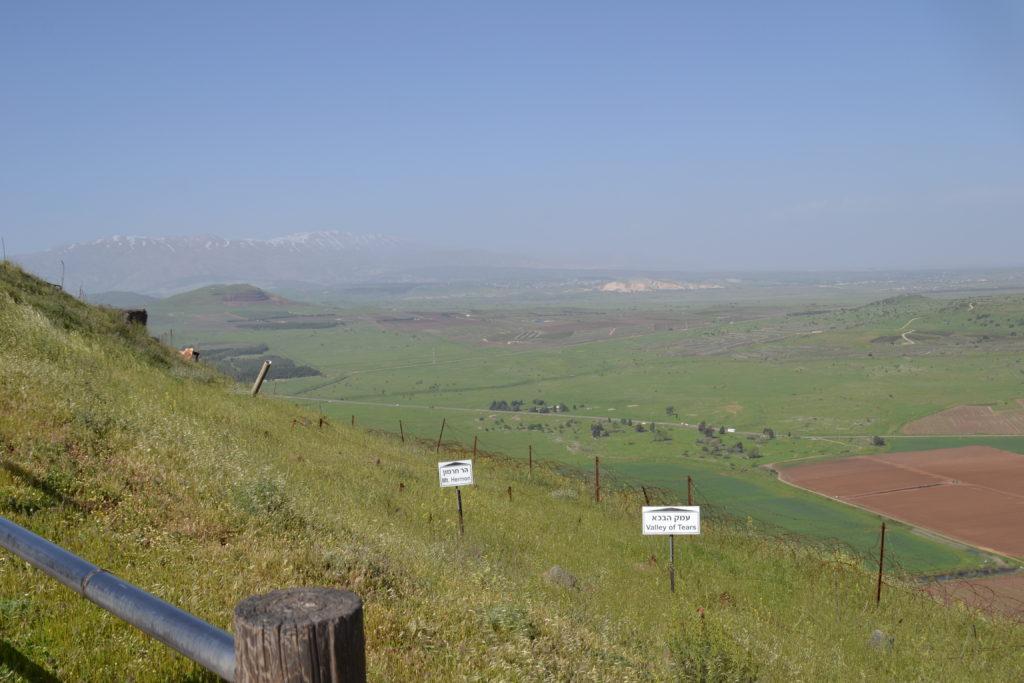 Utsikt mot Syrien och Hermon från Golanhöjderna