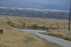 Jordandalen med gränsen till Jordanien