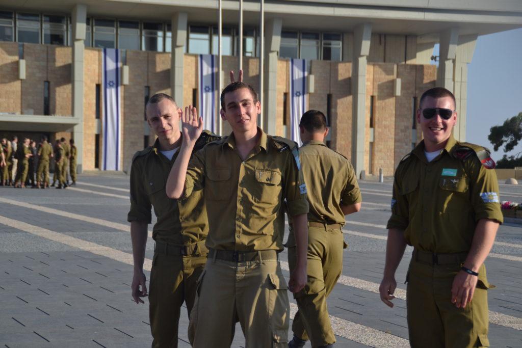 Soldater utanför Knesset